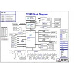 Схема материнской платы ноутбука Toshiba Satellite L310/M320 - Quanta TE1M - rev E3D.